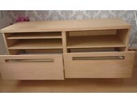Ikea pine effect tv unit with drawers