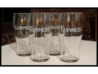 A Set of Four Guinness Glasses