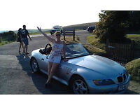 For Sale, BMW Z3 convertible, Silver, 1yr MOT, much loved, Excellent runner