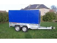 Trailer twin axle with brakes and cover