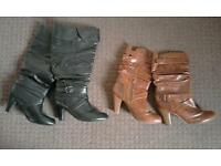 2 pairs of ladies boots