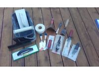 plastering and tiling tools