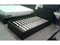 3ft Black Ottoman Storage Bed