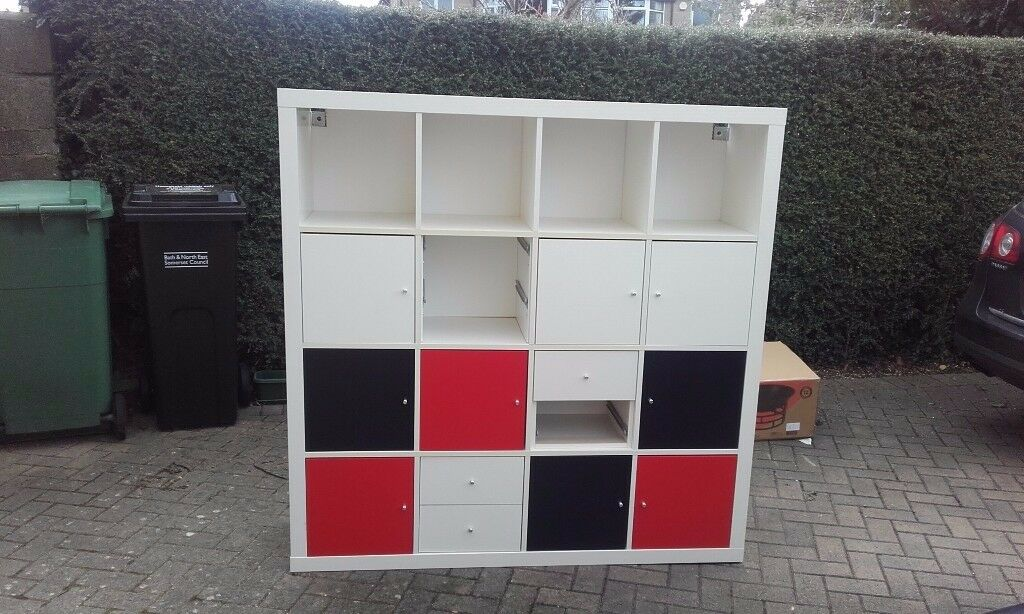 Ikea Billy Shelving unit with doors and drawers