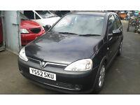 2002 Vauxhall Corsa 1.2 16v SXi 3dr Easytronic black 20r 2hu BREAKING FOR SPARES