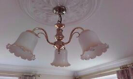 Living Room Lights - three lampshades