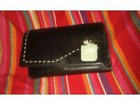 Radley black wallet style purse with blue Radley dog design