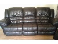 2 & 3 seater leather reclining sofas