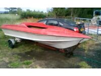 Speed boat , GRP hull only .. Trailer also available