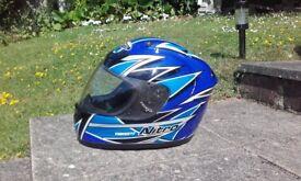 Motorbike Crash Helmet – Nitro Racing – Medium