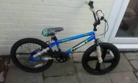 Brand new bmx bike blue
