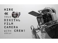Music Video shoot with 4K true Digital Film Camera