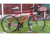 adult, alloy, Carrera zelos Road/race bike. serviced ready to ride.