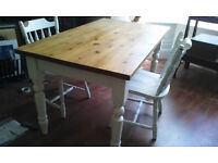 SHABBY CHIC PINE TABLE FREE CHAIRS - SHABBY CHIC PROJECT?