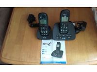 bt twin telephone with answer machine