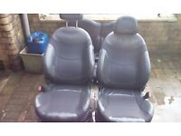 Half leather mini seats