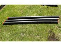 3 Plastic Rod Tubes