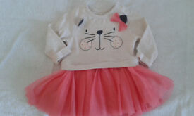 0-3 mnth NUTMEG Baby girl Cat Dress