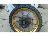 Set of gold wheels for xt125 will fit mist bikes £35 with tyres