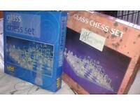 Glass chest sets.