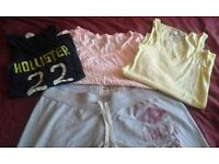Hollister joggers and 3 Hollister tops