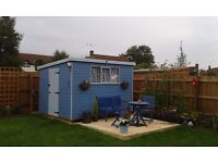 Pent Roof Garden Shed 8 x 10