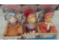 chicken run character toys. unused retro toys. All immaculate and boxed.