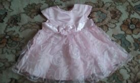 0-3 month girls party dress