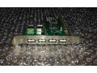 USB 2.0 PCI Expansion Card 6 Port 4 External 2 Internal USB Ports With Internal Port HIGH SPEED