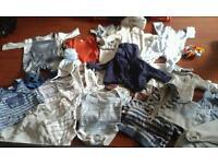 bundle of baby boy cloths
