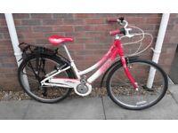 Ladies Trek Zara Step Through Aluminium Frame Hybrid City Town Cruiser Bike Bicycle