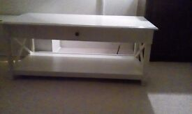 White Solid Wood Coffee Table