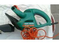 Electric black decker hedge trimmer gt360 and flat file and car brush