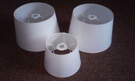 3 BRAN NEW white reversible lamp shades