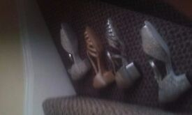 Ladies dance shoes all good condition - some brand new (never worn). Sizes 4 and 5.