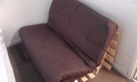 Double futon sofa bed, great condition!