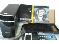 new gaming pc new psu gpu soundblaster headset wireless card keyboard mouse MICROSOFT OFFICE 2013