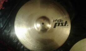 Paiste pst3 HI-HAT cymbals 14inch with stand