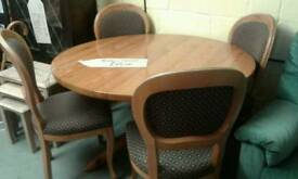 Pine dining table with 4 chairs lovely item £75.00