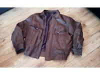 Brown Leather jacket size XXL