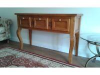 Lovely solid pine dresser/sideboard. Four lovely curvy legs!