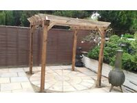 Pergola. Solid construction. Delivered and erected free Norwich area.
