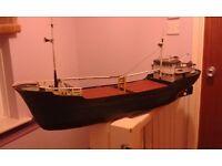 Vintage R/C coaster ship .radio control boat all metal.