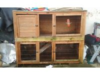 3 rabbit huts for sale 2 double 1 single