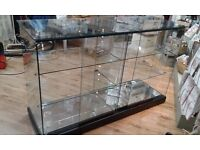 Large Showcase Glass Counter with Two Shelves