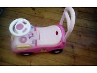 Disney princess pink sit and ride walker