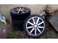 4 Volvo 850 Alloy Wheels and Tyres