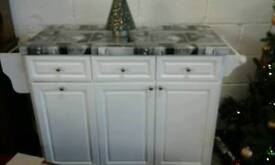 Kitchen island with 3 cupboards 3 drawers £130.00