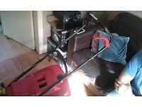 Petrol lawn mowere & 5 in one petrol maintenance set