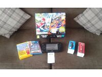Wii U Console with Games,Mario Controller and Nunchuck